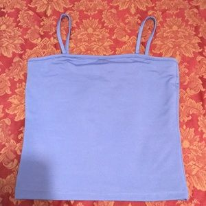 Violet tank top with optional tube top adjustment